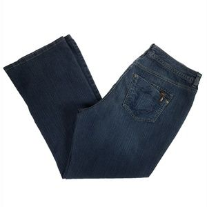 JUST MY SIZE Dark Wash Embroidered Boot Cut Jeans